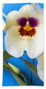 Three Exotic Orchids Bath Towel