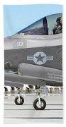 Three F-35b Lightning IIs At Marine Bath Towel