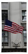 Three Flags Together On 5th Avenue Bath Towel