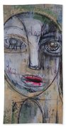 Three Portraits On Paper Bath Towel