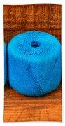 Three Skeins Of Knitting Yarn Bath Towel