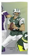 Three Stages Of Bret Favre Bath Towel