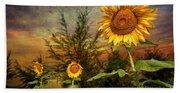 Three Sunflowers Hand Towel