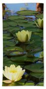 Three  Yellow Lilies Bath Towel