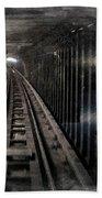 Through The Last Subway Car Window 3 Bath Towel