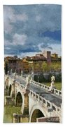 Tiber River In Rome Bath Towel