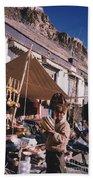 Tibet Market At Gyantse By Jrr Bath Towel