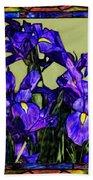 Tiffany Style Blue Iris Bath Towel