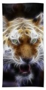 Tiger Greatness Digital Painting Bath Towel