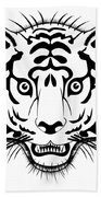 Tiger Head Bath Towel