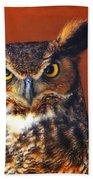 Tiger Owl Bath Towel