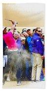 Tiger Woods - The Waste Management Phoenix Open At Tpc Scottsdal Bath Towel