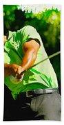 Tiger Woods - Wgc- Cadillac Championship Bath Towel