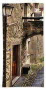 Tight Alley With A Bridge Bath Towel
