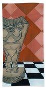 Tiki Statue Art Bath Towel