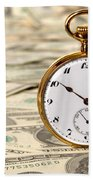 Time Is Over Money Bath Towel