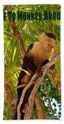 Time To Monkey Around Bath Towel