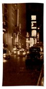 Times Square At Night - In Copper Bath Towel