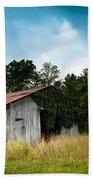 Tin Roof...ivy Covered Barn Bath Towel