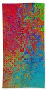 Tiny Blocks Digital Abstract - Bold Colors Bath Towel