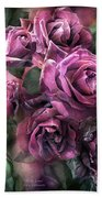 To Be Loved - Mauve Rose Hand Towel
