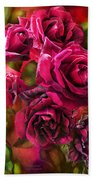 To Be Loved - Red Rose Bath Towel