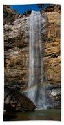 Toccoa Falls With Rainbow Bath Towel
