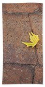 Together Yellow Maple Leaves Bath Towel