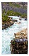 Tokuum Creek Flowing Into Marble Canyon In Kootenay Np-bc Bath Towel