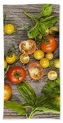 Tomatoes And Herbs Bath Towel