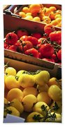Tomatoes On The Market Bath Towel