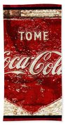 Tome Coca Cola Classic Vintage Rusty Sign Bath Towel