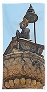 Top Of Stone Pillar In Bhaktapur Durbar Square In Bhaktapur-nepal Bath Towel