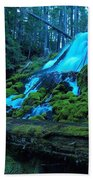 Top Part Of Clearwater Falls Bath Towel