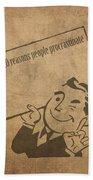 Top Ten Reasons People Procrastinate Pun Humor Motivational Poster Bath Towel