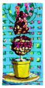 Topiary Of Dried Roses Bath Towel