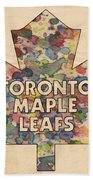 Toronto Maple Leafs Hockey Poster Hand Towel