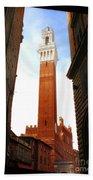 Torre Del Mangia Siena Bath Towel