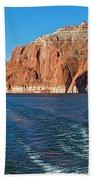 Tour Boat Wake In Lake Powell In Glen Canyon National Recreation Area-utah  Bath Towel
