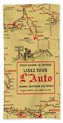 Tour De France 1914 Bath Towel