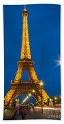 Tour Eiffel De Nuit Bath Towel