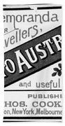 Tourism Australasia, 1889 Bath Towel