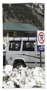Tourist Vehicles Parked At The No Parking Sign In Sonmarg Bath Towel