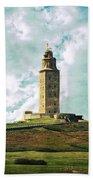 Tower Of Hercules La Coruna Bath Towel