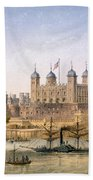 Tower Of London, 1862 Bath Towel