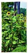Towering Sunflowers Bath Towel