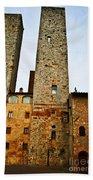 Towers Of San Gimignano Bath Towel