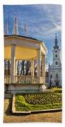 Town Of Bjelovar Central Park Bath Towel