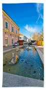 Town Of Bjelovar Square Fountain Bath Towel