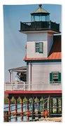 Town Of Edenton Roanoke River Lighthouse In Nc Bath Towel